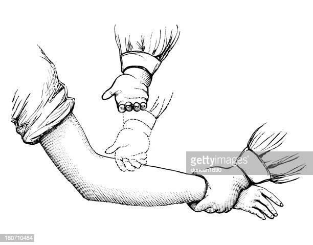illustrations, cliparts, dessins animés et icônes de masser le bras - masseur