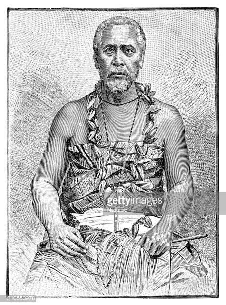 マタアファ・イオセフォ(1832年-1912年2月6日)は、植民地主義の間にサモアの王の3つのライバル候補の一人であったサモアのパラマウントチーフでした。彼はまた、トゥプア・マリエトア・オ� - 酋長点のイラスト素材/クリップアート素材/マンガ素材/アイコン素材