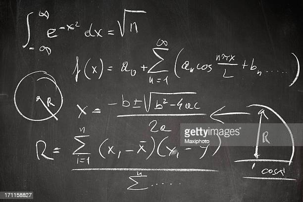 Math formula on blackboard