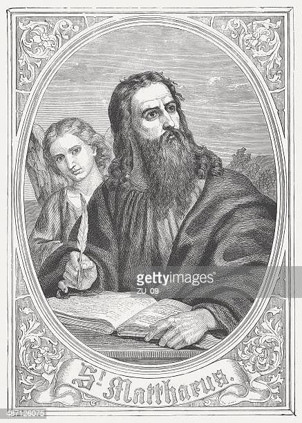 Matthew the Evangelist, wood engraving, published in 1868
