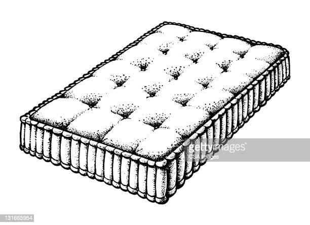 mattress - mattress stock illustrations, clip art, cartoons, & icons