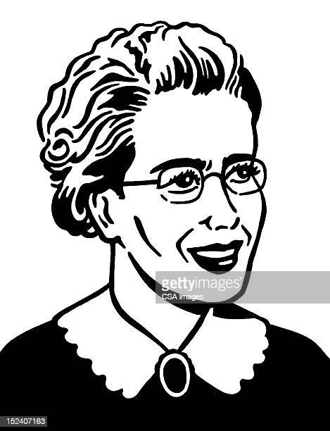 Mature Woman Wearing Glasses