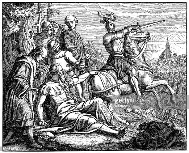 maurice, elector of saxony death - mid adult men stock illustrations