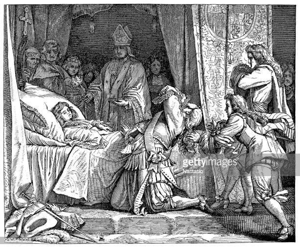 Max Emanuel en el cadáver de su hijo Joseph Ferdinand