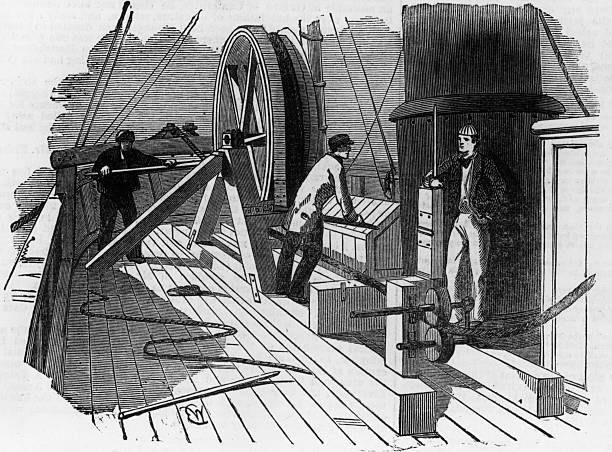 The breaking of the Atlantic Telegraph Cable on board...
