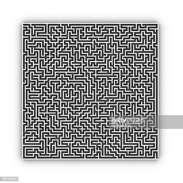 maze against white background - complexity stock illustrations