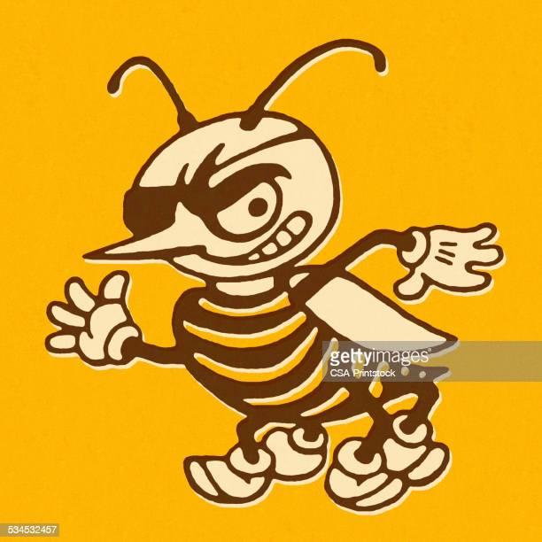 Mean Hornet Wearing an Eye Patch