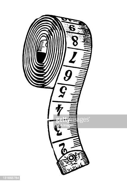 measuring tape - ruler stock illustrations