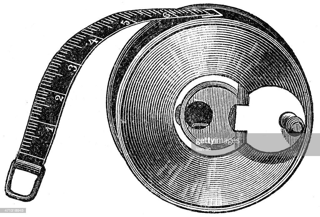 measuring tape : Stock Illustration