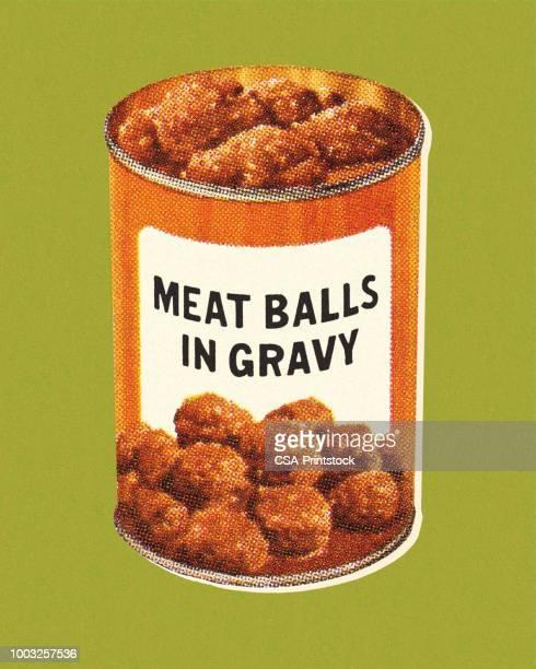 meat balls in gravy - gravy stock illustrations