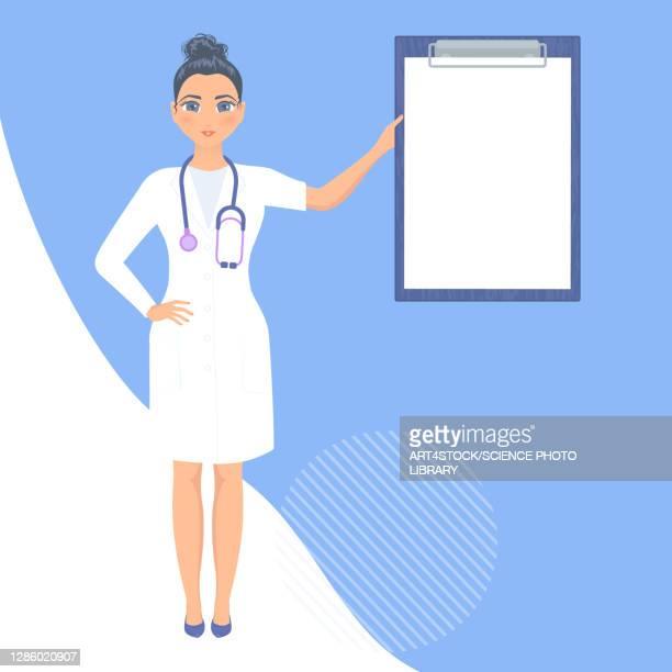 medical consultation, illustration - uniform stock illustrations