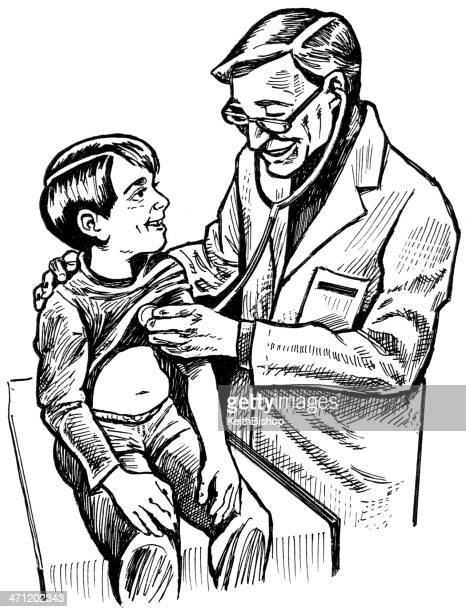 Medical Doctor and Young Boy Patient