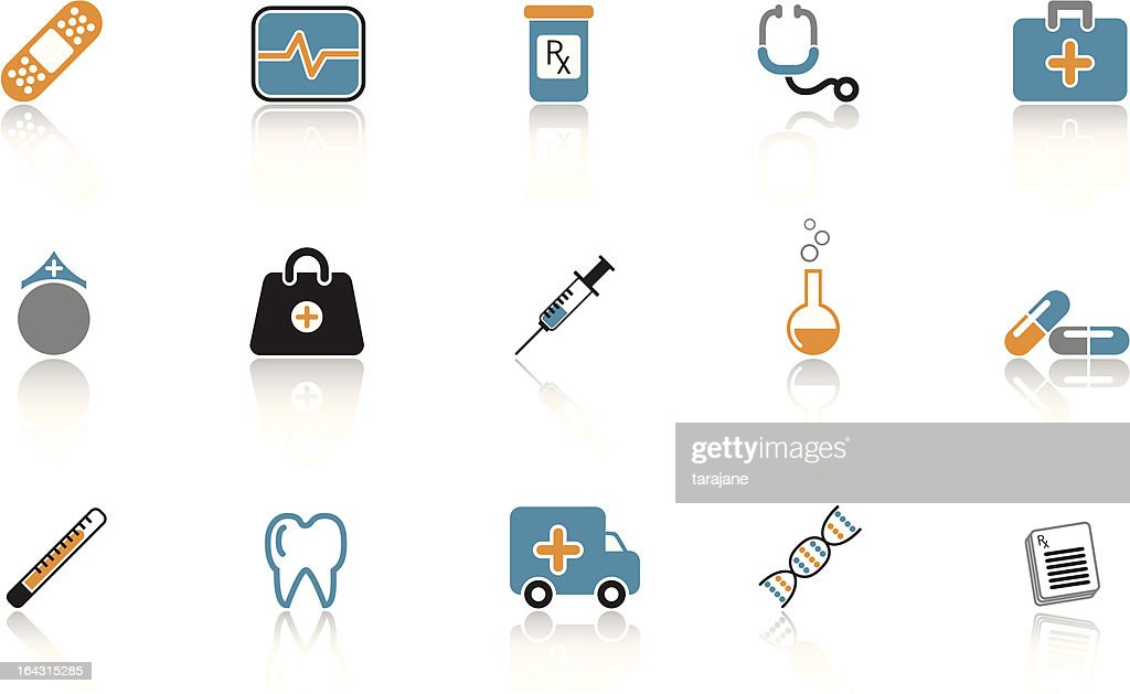 Medical Icon Set - Blue