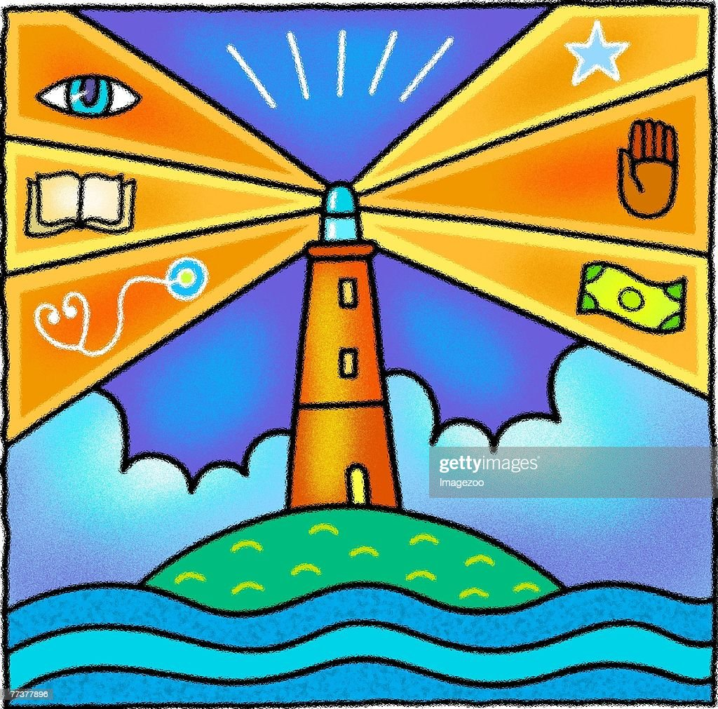 Medical lighthouse : Illustration