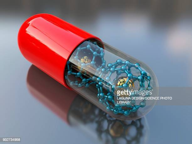 medical nanoparticles, conceptual illustration - nanotechnology stock illustrations