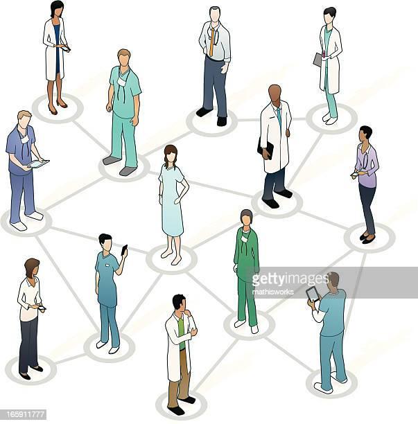 Réseau médical Illustration
