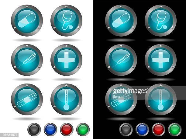 ilustraciones, imágenes clip art, dibujos animados e iconos de stock de medical conjunto de - termometro mercurio