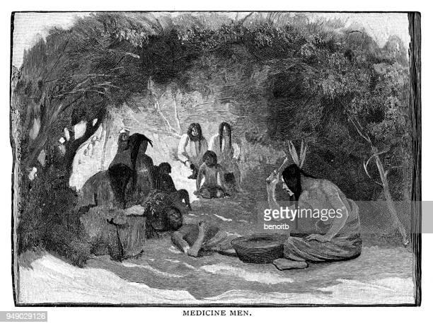 medicine men - indigenous north american culture stock illustrations, clip art, cartoons, & icons