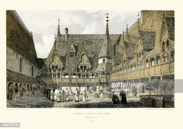 Medieval Architecture - Court of the Hospices de Beaune
