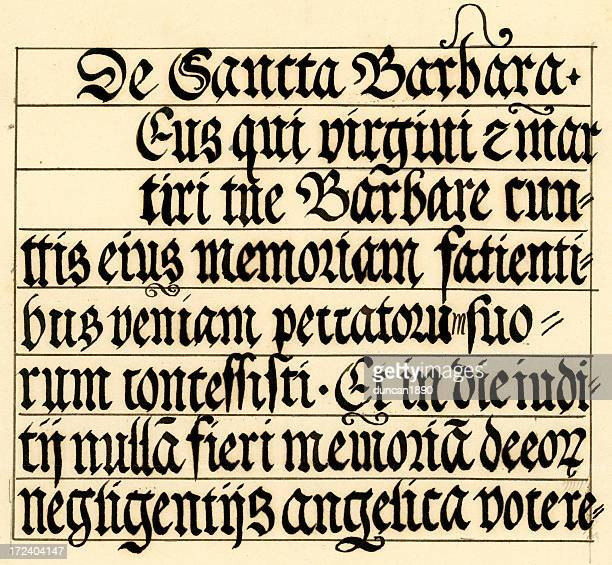 Medieval calligraphy