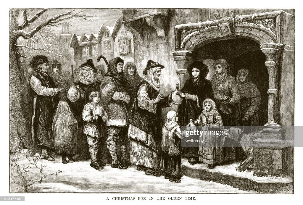 Medieval Christmas Gift Giving Stock Illustration | Getty Images