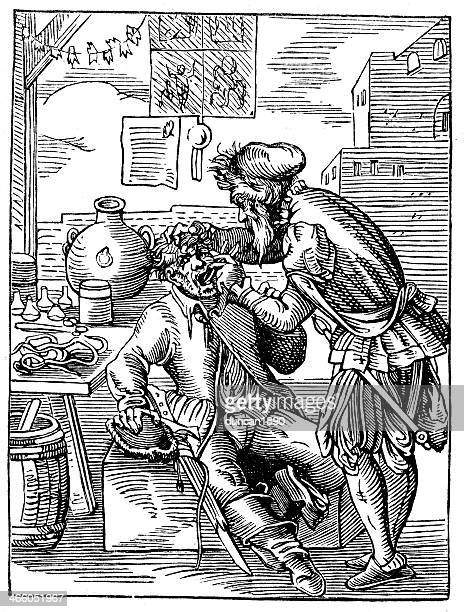 medieval dentist - toothache stock illustrations, clip art, cartoons, & icons