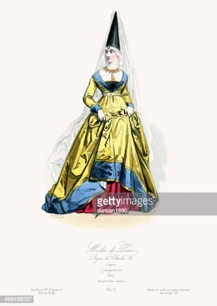Medieval Fashion Woman of Paris