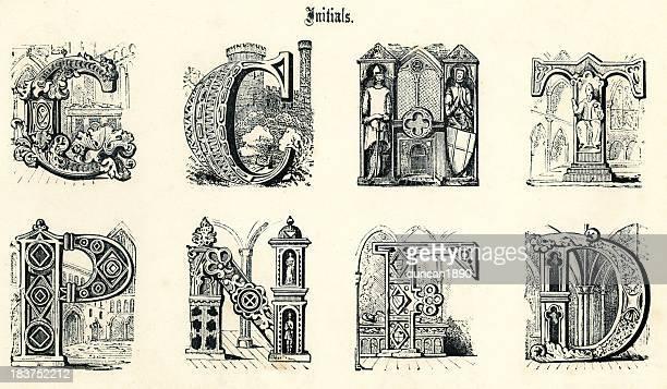 medieval initials - {{asset.href}} 幅插畫檔、美工圖案、卡通及圖標