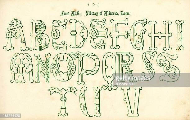 Medieval Italian Style Alphabet