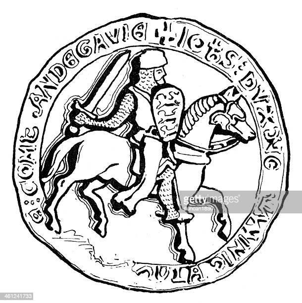 medieval knight - great seal stock illustrations, clip art, cartoons, & icons