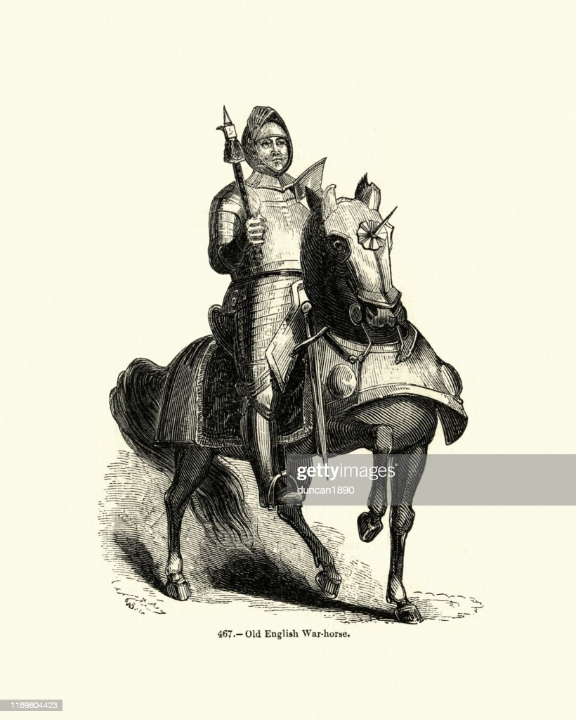 Medieval Knight In Armour Riding A Destrier War Horse High Res Vector Graphic Getty Images