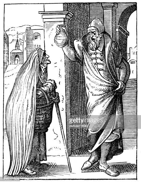 medieval physician - 16th century style stock illustrations