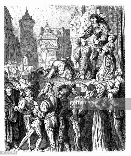 Medieval public Execution
