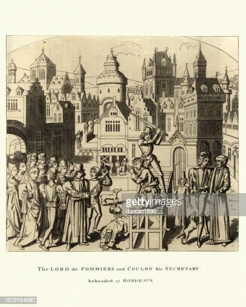 Medieval Public execution of Lord de Pommiers, Bordeaux