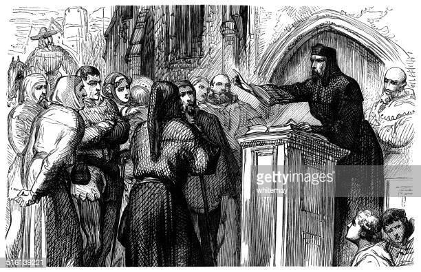 Medieval wayside preacher