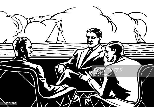 Réunion des hommes sur l'océan