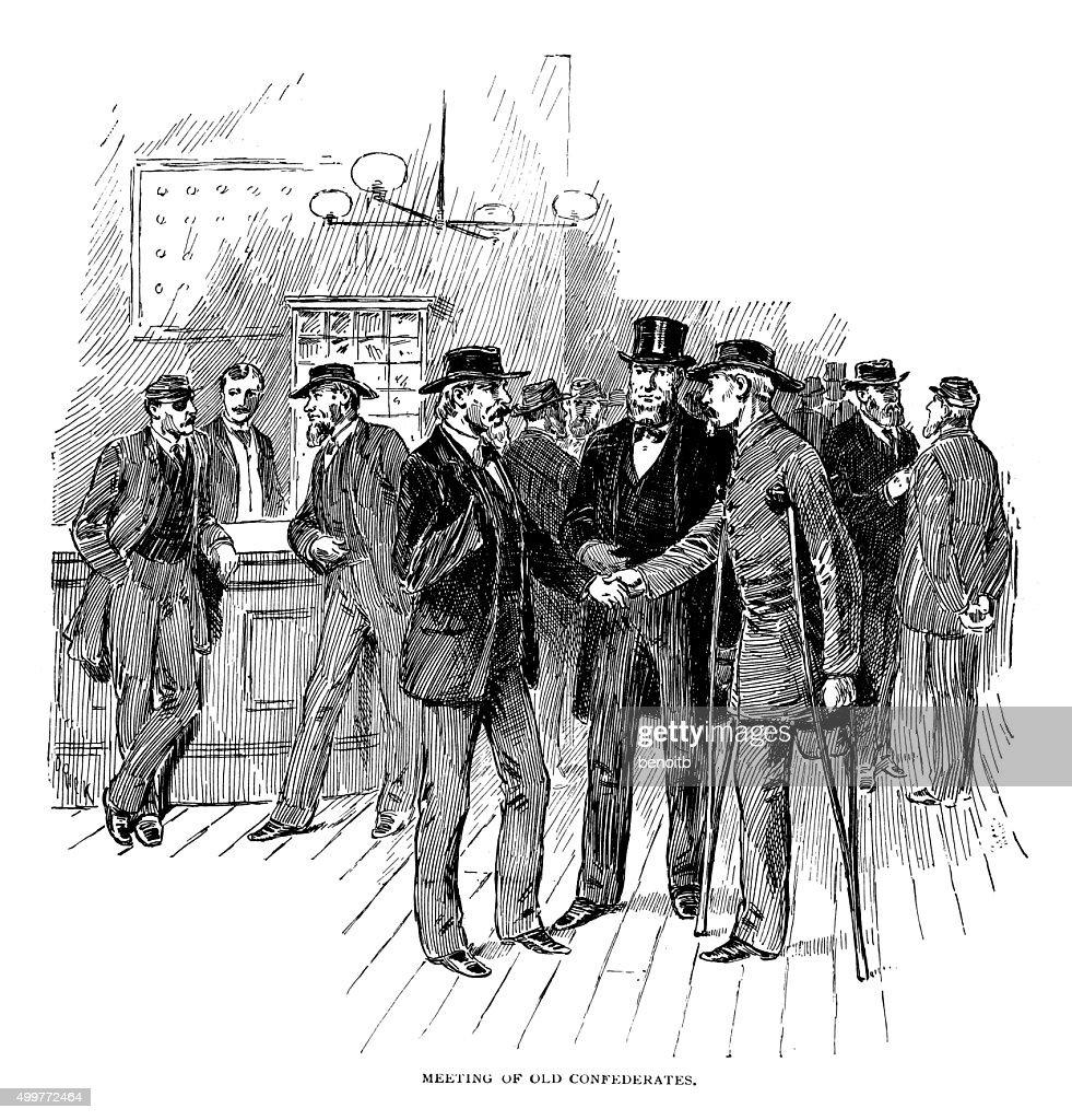 Reunión de antiguos confederates : Ilustración de stock