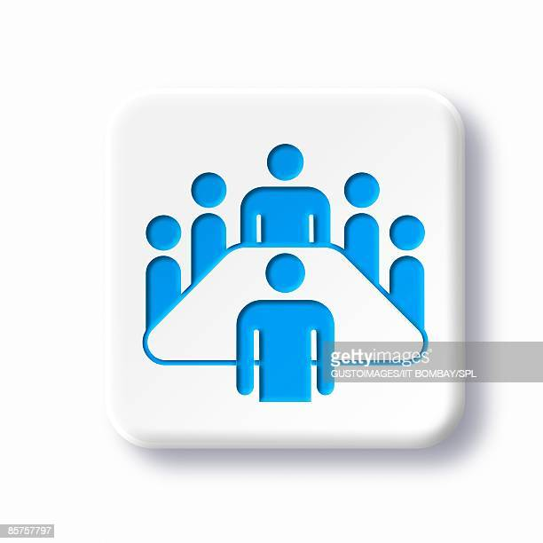 meeting room symbol against white background - meeting stock illustrations