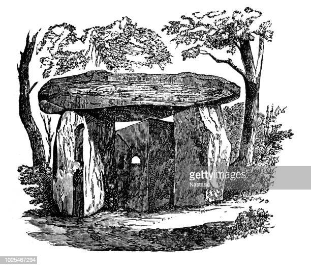 megalith in corsica - corsica stock illustrations, clip art, cartoons, & icons