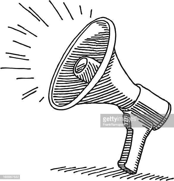 top megaphone stock illustrations  clip art  cartoons