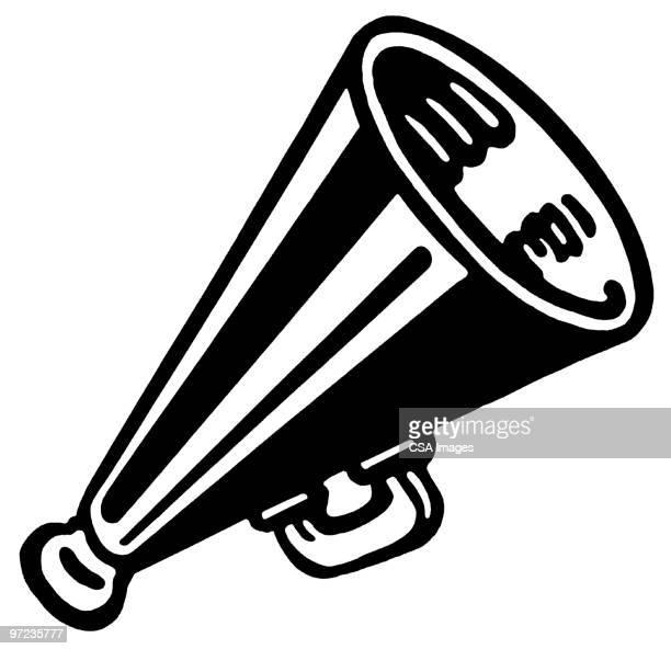 illustrations, cliparts, dessins animés et icônes de megaphone - porte voix