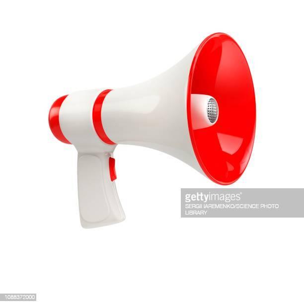 megaphone, illustration - single object stock illustrations