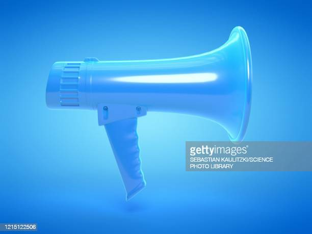 megaphone, illustration - message stock illustrations