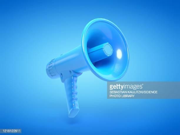 illustrazioni stock, clip art, cartoni animati e icone di tendenza di megaphone, illustration - megafono