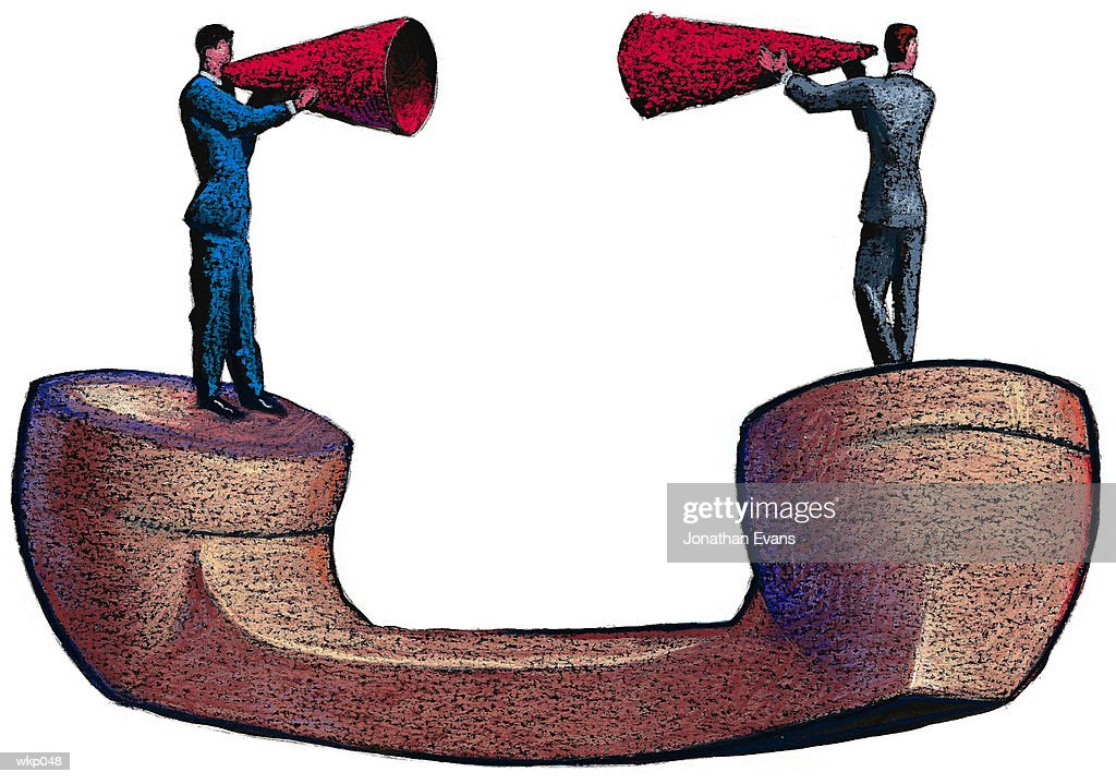 Megaphones & Telephone : Stock Illustration