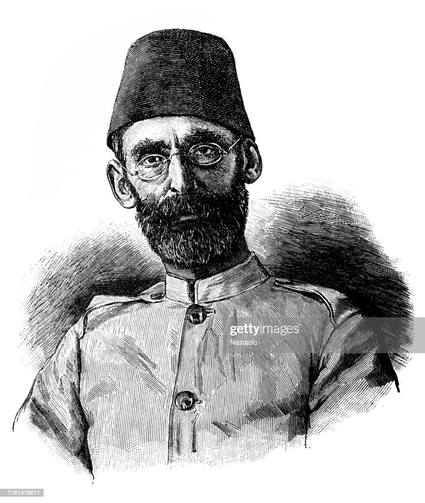 Mehmed Emin Pasha (geboren als Isaak Eduard Schnitzer, gedoopt Eduard Carl Oscar Theodor Schnitzer) was een Ottomaanse arts van Duitse Joodse afkomst, naturalist en gouverneur van de Egyptische provincie Equatoria op de bovenste Nijl : Stockillustraties
