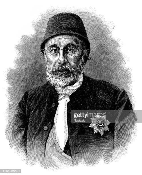 mehmed fuad pasha (1814 – february 12, 1869) - governor stock illustrations, clip art, cartoons, & icons
