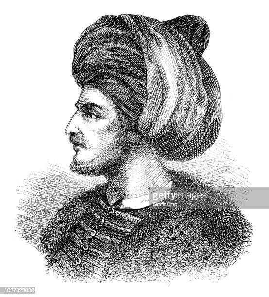 Mehmed II the conqueror portrait illustration 1882