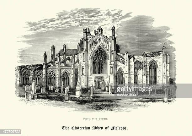 Melrose Abbey, Roxburghshire, Scotland