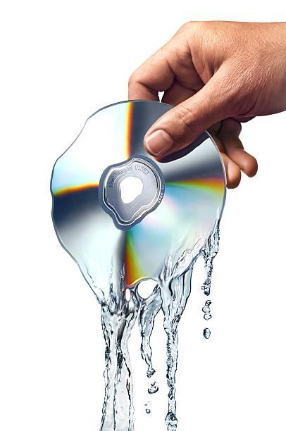 melting cd, artwork - melting stock illustrations